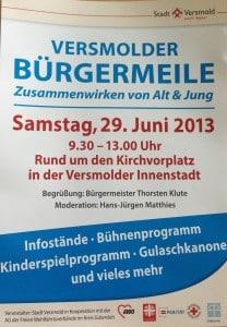 Flyer Bürgermeile 2013